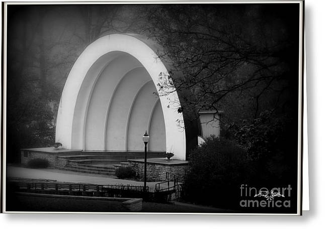 Outdoor Theater Greeting Cards - Freeport Bandshell Greeting Card by Dolores McKenzie