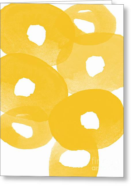 Abstract Flower Greeting Cards - Freesia Splash Greeting Card by Linda Woods