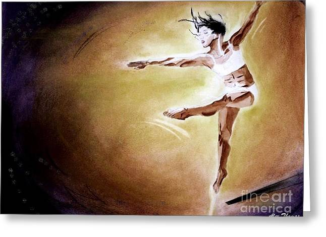 Actions Pastels Greeting Cards - Freestyle dancer Greeting Card by Alex Thomas