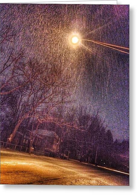 Patrick Greeting Cards - Freezing Rain Greeting Card by Patrick