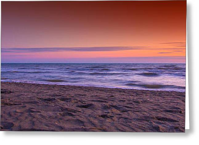 Italian Sunset Greeting Cards - Fregene Lungomare Greeting Card by Marco Crupi