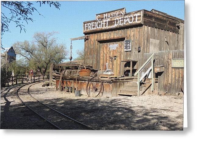 Cave Creek Cowboy Greeting Cards - Freight Depot Greeting Card by Gordon Beck