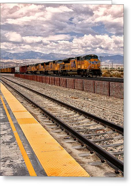 Freight Expectations Palm Springs Greeting Card by William Dey