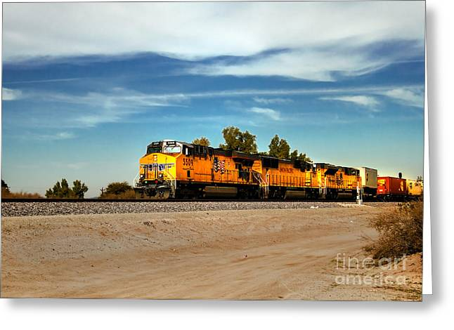 Train Photography Greeting Cards - Freight Train Greeting Card by Robert Bales