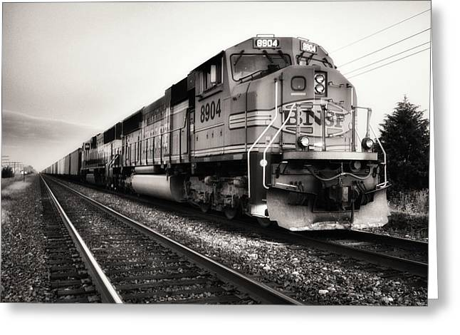 Naturalistic Digital Greeting Cards - Freight Train Greeting Card by Tom Druin