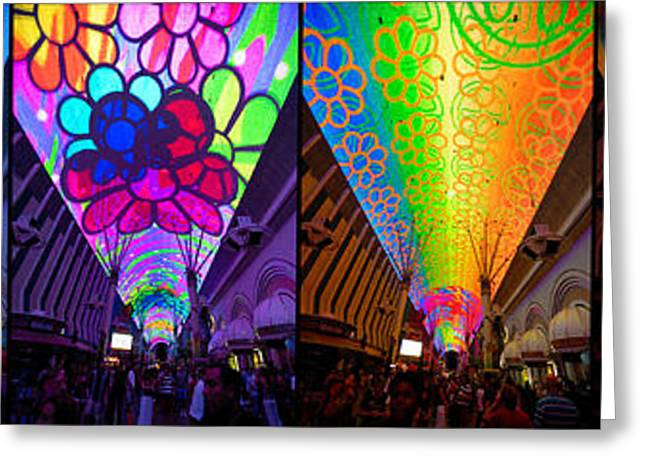 Groovy Greeting Cards - Fremont Street Experience Greeting Card by Amy Cicconi