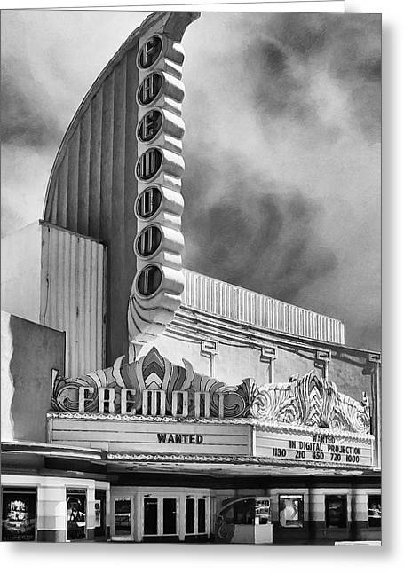 Showcase Greeting Cards - Fremont Theater Greeting Card by Ron Regalado
