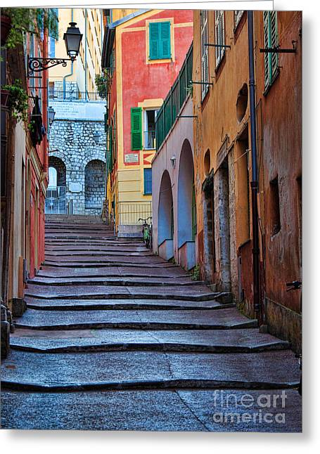 Cote Greeting Cards - French Alley Greeting Card by Inge Johnsson