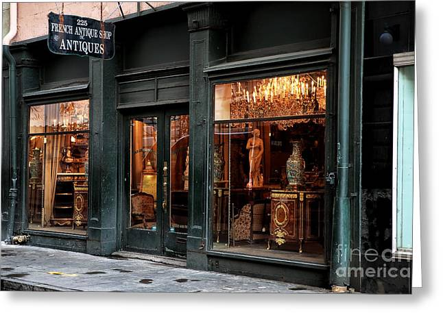 Photo Art Gallery Greeting Cards - French Antiques Greeting Card by John Rizzuto
