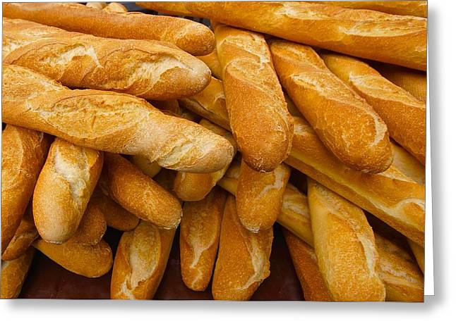 Local Food Photographs Greeting Cards - French Bread Still Life Greeting Card by Blair Seitz