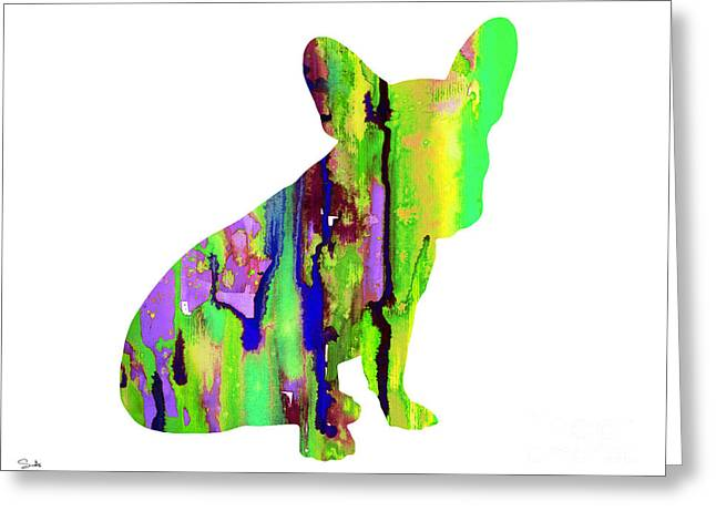 Watercolor! Art Greeting Cards - French Bulldog 2 Greeting Card by Luke and Slavi
