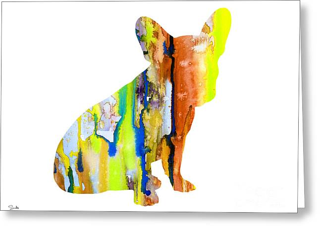 French Bulldog 8 Greeting Card by Luke and Slavi
