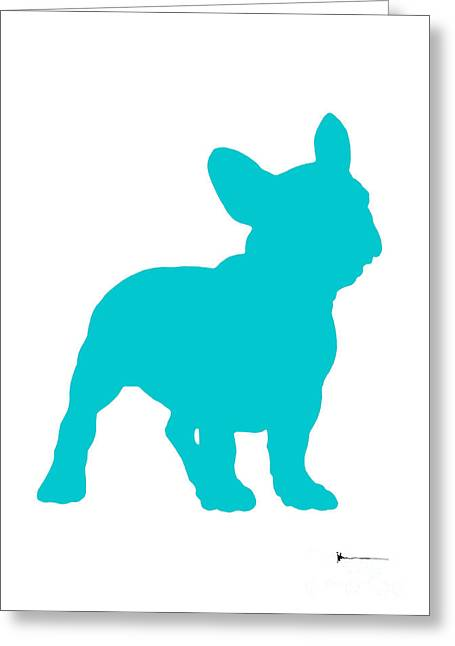 French Bulldog Figurine Art Print Painting Greeting Card by Joanna Szmerdt