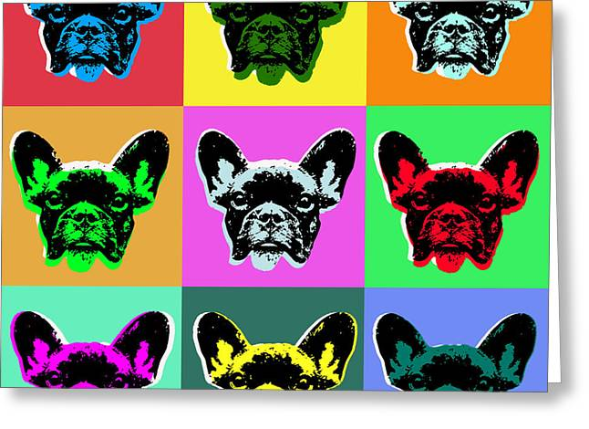 Recently Sold -  - Puppy Digital Art Greeting Cards - French Bulldog Greeting Card by Jean luc Comperat