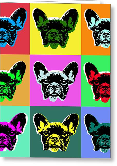 French Bulldog Greeting Card by Jean luc Comperat