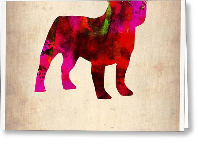 French Bulldog Poster Greeting Card by Naxart Studio
