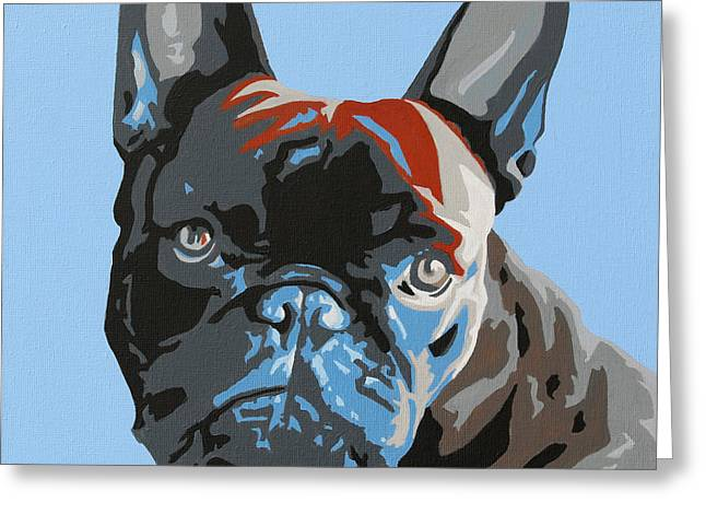 Toy Dogs Paintings Greeting Cards - French Bulldog Greeting Card by Slade Roberts