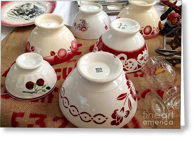 South Of France Greeting Cards - French Cafe Bowls Greeting Card by France  Art
