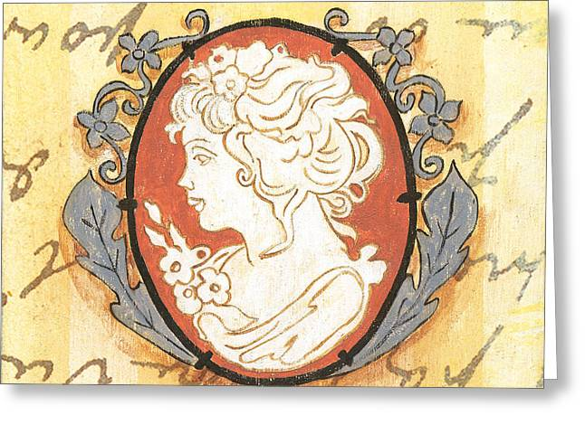 Jewelry Greeting Cards - French Cameo 2 Greeting Card by Debbie DeWitt