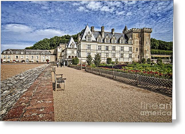 Royalty Pyrography Greeting Cards - French Castle-2 Greeting Card by Mauro Celotti