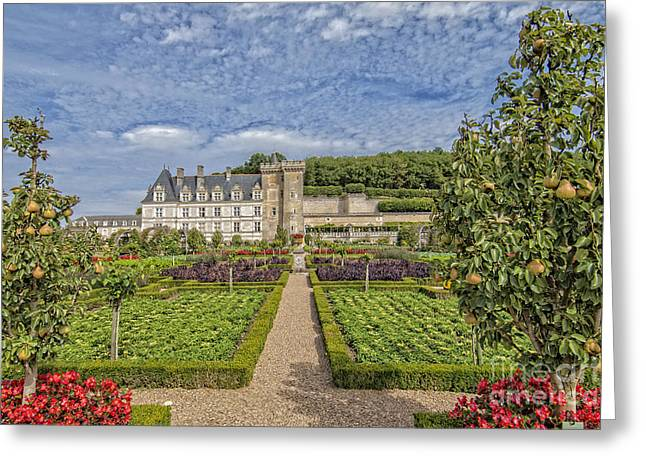 Royalty Pyrography Greeting Cards - French Castle-3 Greeting Card by Mauro Celotti