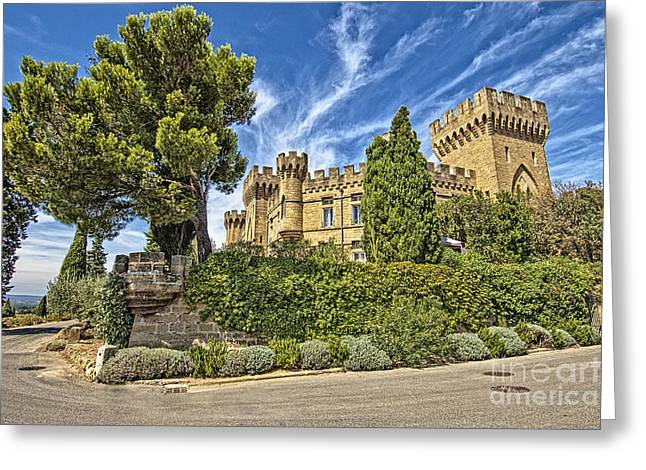 Royalty Pyrography Greeting Cards - French Castle-8 Greeting Card by Mauro Celotti
