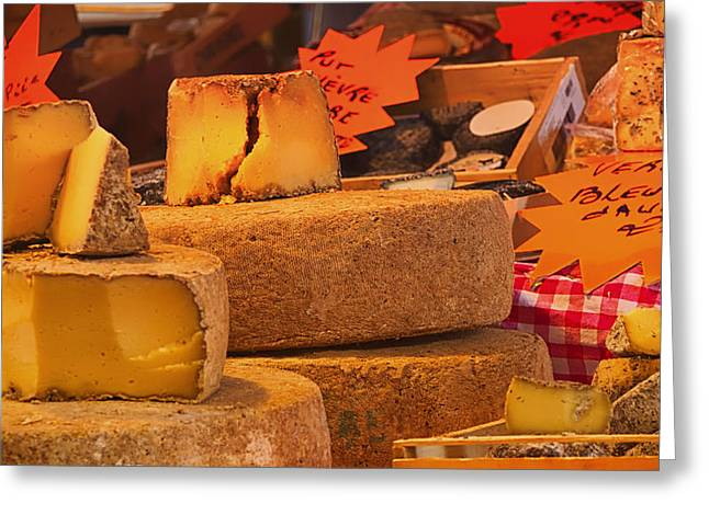Deli Greeting Cards - French Cheese Shop Greeting Card by Mountain Dreams