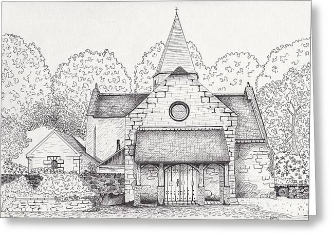 French Church Greeting Card by Michelle Welles