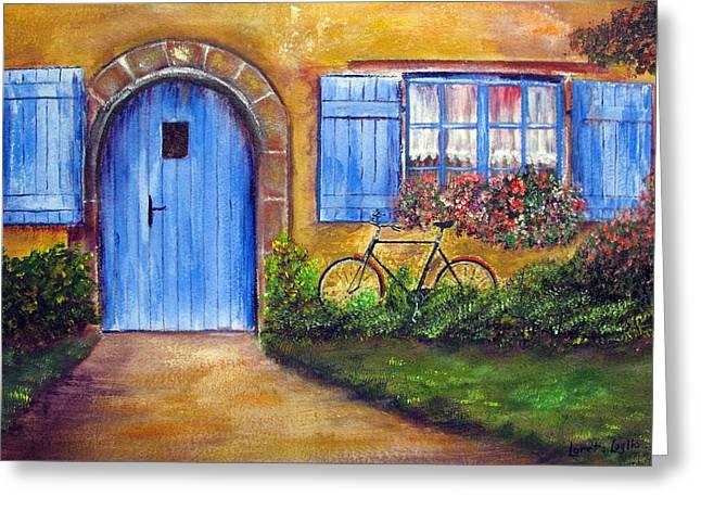 French Cottage Greeting Card by Loretta Luglio