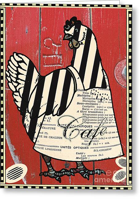 Wall Licensing Greeting Cards - Whimsical French Country Chicken Art Greeting Card by ArtyZen Studios - ArtyZen Home