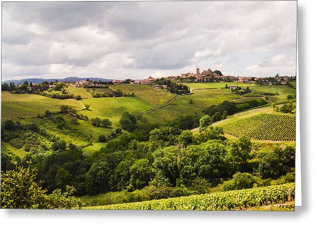 Oingt France Greeting Cards - French Countryside Greeting Card by Allen Sheffield