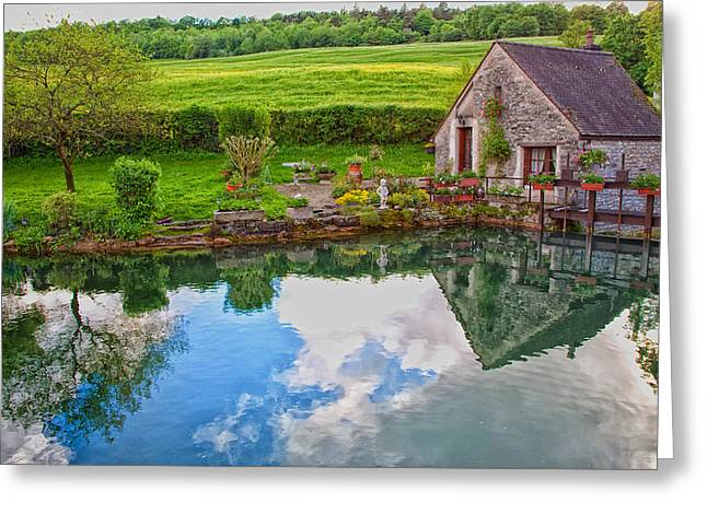 Stone House Greeting Cards - French Countryside Cottage Greeting Card by Paul McGowan