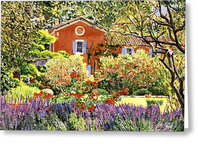 Country House Greeting Cards - French Countryside House Greeting Card by David Lloyd Glover