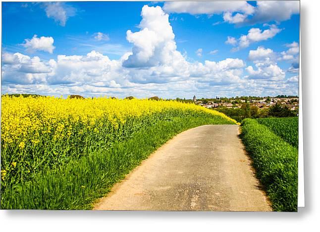 Newsom Greeting Cards - French Countryside Greeting Card by Nila Newsom