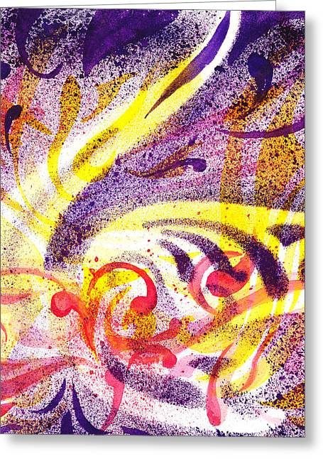 Abstract Movement Greeting Cards - French Curve Abstract Movement I Greeting Card by Irina Sztukowski