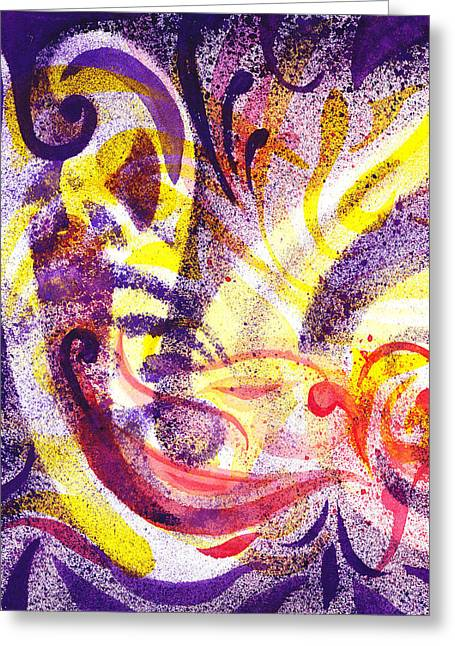 Abstract Art For Sale Paintings Greeting Cards - French Curve Abstract Movement II Greeting Card by Irina Sztukowski