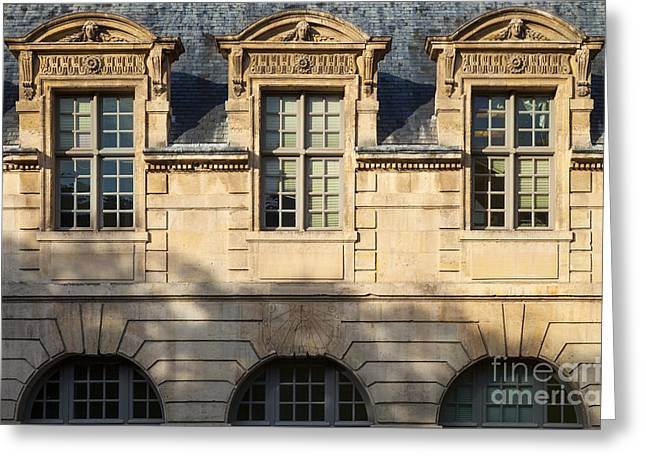 French Dormers - Paris Greeting Card by Brian Jannsen