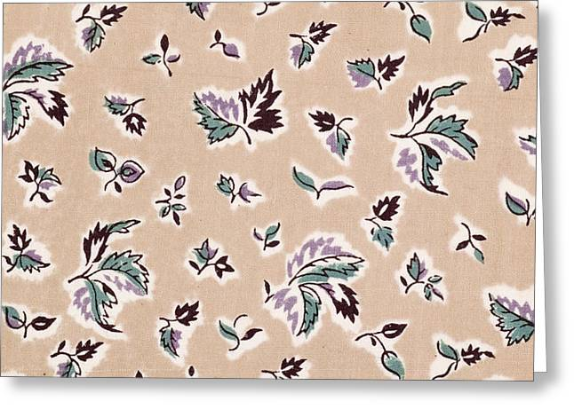 French Fabrics First Half Of The Nineteenth Century 1800 Greeting Card by Liszt Collection