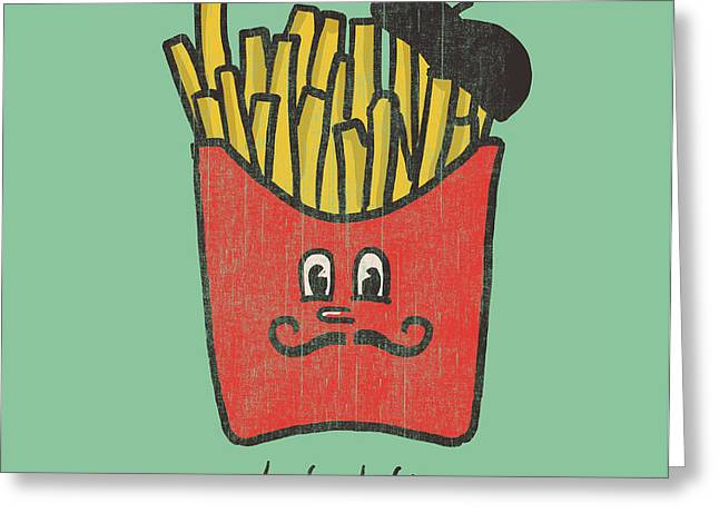 French Fries Greeting Card by Budi Satria Kwan