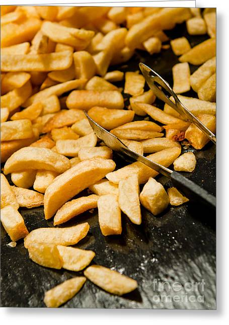 French Fries Greeting Cards - French fries Greeting Card by Luis Alvarenga