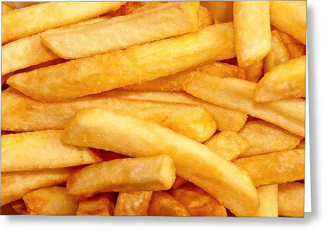 French Fries Greeting Card by Maria Meester