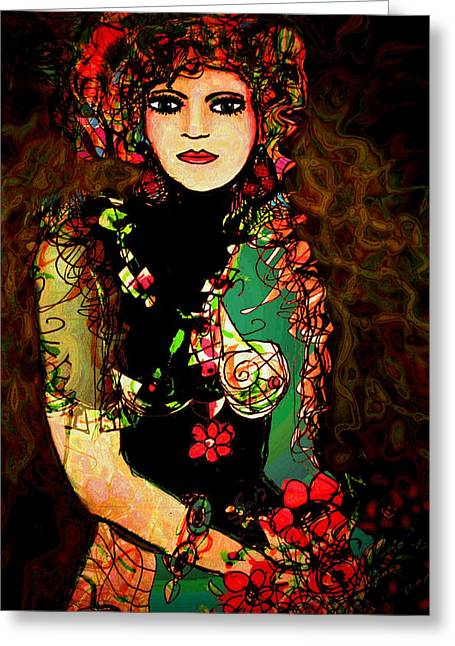 French Girl Greeting Card by Natalie Holland