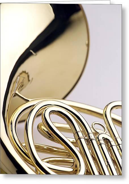 French Horn  Greeting Card by Jon Neidert
