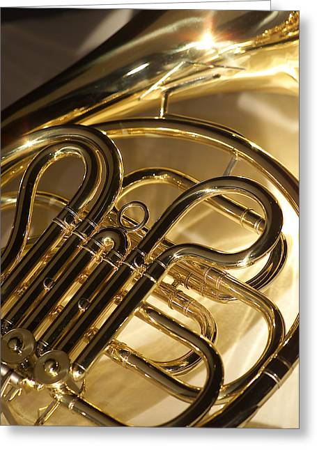 French Horn Greeting Cards - French Horn I Greeting Card by Jon Neidert