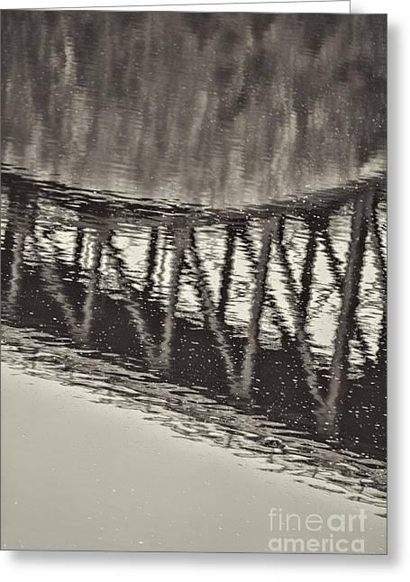 Massachusetts Bridges Greeting Cards - French King Bridge Bridge Greeting Card by HD Connelly