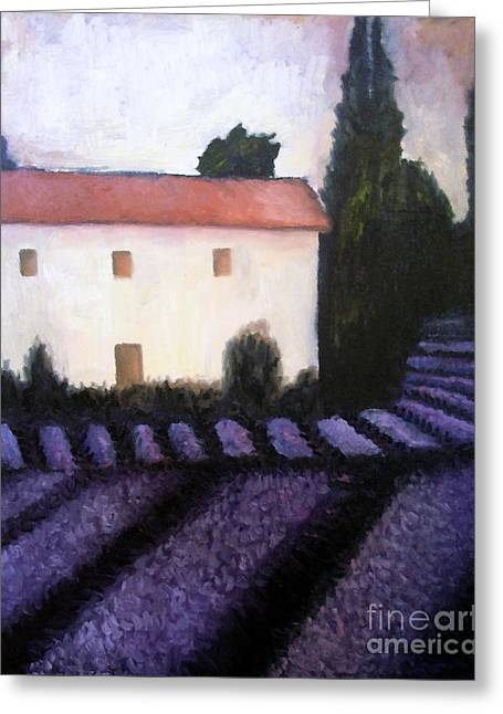 Europe Mixed Media Greeting Cards - French Lavender Greeting Card by Venus
