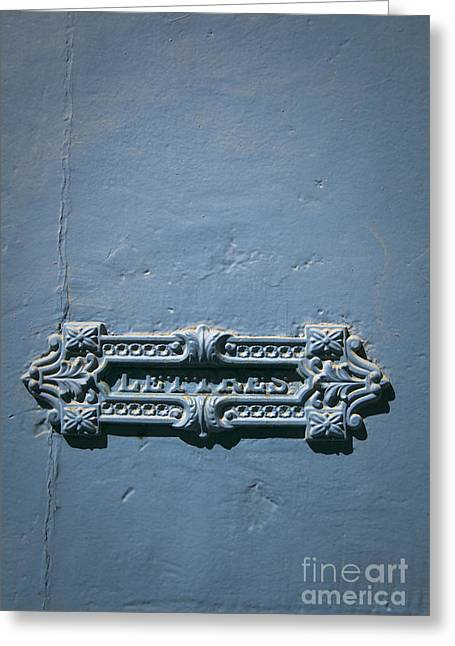Inbox Greeting Cards - French letter slot Greeting Card by Maria Heyens