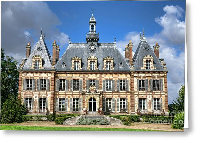 French Renaissance Greeting Cards - French Mansion Greeting Card by Olivier Le Queinec