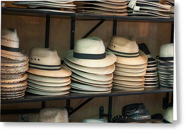 French Market Hats Greeting Card by Brenda Bryant