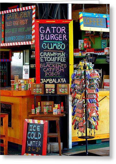 Burger Greeting Cards - French Market New Orleans Greeting Card by Christine Till